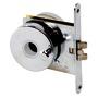 Recess-fit simple lock chromed brass 68x60x9 mm
