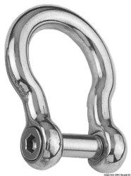 Bow shackle AISI 316 8 mm