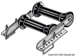 Rullo basculante posteriore 60 mm doppio