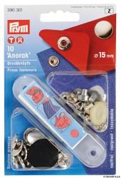 Serie 10 bottoni capote Prym