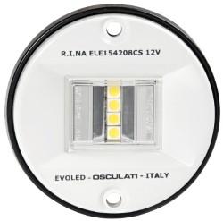 Luce di Via poppa 135° Evoled in ABS bianco (Blister)