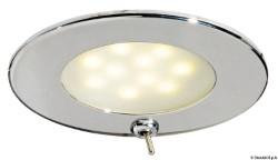 Plafoniera Adria LED inox con interruttore