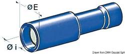Terminali cilindrici femmina 1-2,5 mm²