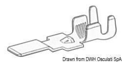 Faston maschio per cavi 4/6 mm²