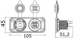 Presa accendisigari + doppia USB