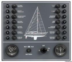 Pannello elettrico a fusibili per barca a vela