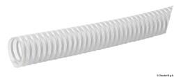 Tuyau avec spirale en PVC blanc 37 mm