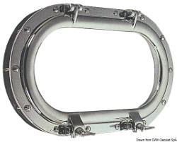 Oblò ovale ottone cromato 265 x 435 mm