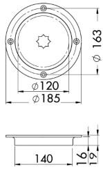 Инспекция люк AISI 316 преминаване 120 mm