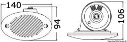 Tromba Fiamm bianca 140 x 80 mm
