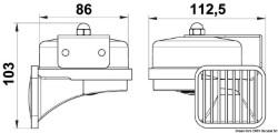 Tromba ABS cromato singola alta potenza