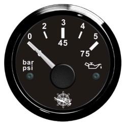 Indicatore pressione olio 0/5 bar nero/nera