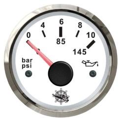 Indicatore pressione olio 0-10 bar bianco/lucida