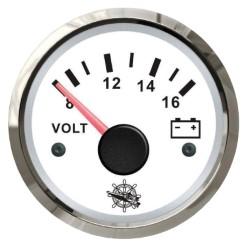 Voltmetro 8/16 V bianco/lucida