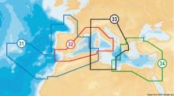 Cartografia Navionics XL9-43XG NAVIONICS+ Mediterraneo, Mar Nero, Canarie e Azzo