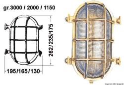 Lampada tartaruga ovale 195 x 262 mm