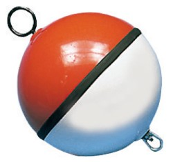 Boa sfera bianca/rossa piena 700 mm