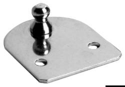Piastrina inox piana filetto 8 mm