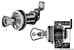 Serratura a cilindro ottone nichelato