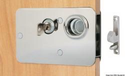 Serratura ottone cromato 134x80 mm