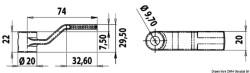 Leva ricambio alzap. mm 29,5