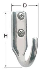 Gancetto inox 25x41 mm