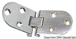 Cerniera a filo inox 84x30 mm