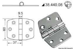 Cerniera inox 74x60 mm
