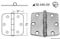 Cerniera inox 74x75 mm