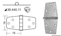 Cerniera inox 152x76 mm