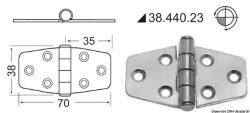 Cerniera standard 70x38 mm