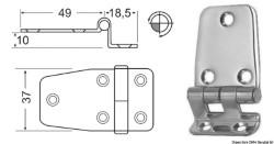Cerniera inox a sbalzo 67,5x37 mm