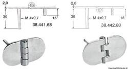 Cerniera inox 68,5x38,5 mm