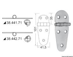 Cerniera inox 107x39 mm