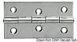 Cerniera inox mm 70x40