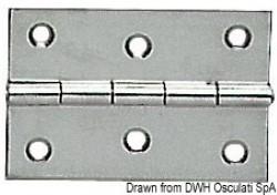 Cerniera inox mm 75x50
