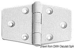 Cerniera nylon mm 98x65 bianca