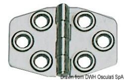 Cerniera inox mm 68x46