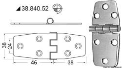Cerniere inox 88x38 mm