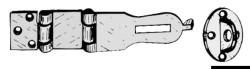 Cerniera a ribalta o.c.140x35