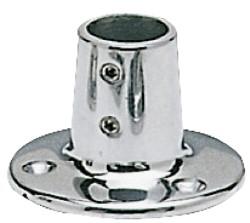 PLATINE BALCON EN TOLE INOX 316 BASE RONDE  60° Ø 22 MM