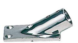 Base inox inclinata 30° 22 mm