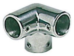 Angolare inox 3 vie 90° 22 mm
