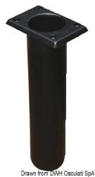 Portacanne polipr. quadrato UV stab. nero 230 mm