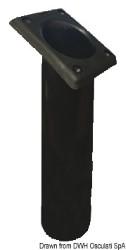 Portacanne polipr. quadrato UV stab. nero 240 mm