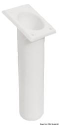 Portacanne polipr. quadrato UV stab. bianco 240 mm