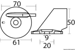 Pinna 40/70 HP 4T alluminio