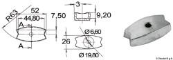 Anodo piastrina Volvo mm52x26