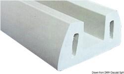 Profilo PVC grigio 72 x 30 mm  (barra 2 m)