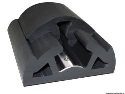 Profilo parabordo Bino nero 65 mm - 12 mt